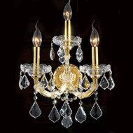3 Light Maria Theresa Crystal Wall Sconce KL-41039-3-G