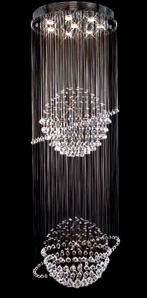 8 light planet modern pendant crystal chandeliers kl 6111