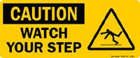 caution sign information from OSHA
