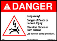 danger sign information from OSHA