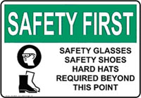 safety instruction sign information from OSHA