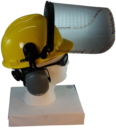 Hard Hat Face Shield Kit