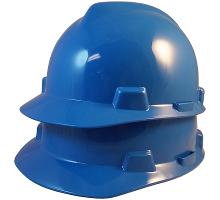 blue msa hard hat