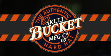 SkullBucket Original Full Brim Aluminum Hard Hats