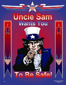 Uncle Sam Safety Posters in ENGLISH  pic 1