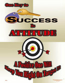 Key To Success Is Attitude Posters in ENGLISH  pic 1