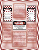 Lockout / Tagout Informational Posters in ENGLISH  pic 1