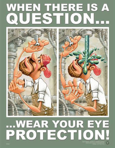 Eye Protection Safety Posters in ENGLISH  pic 1
