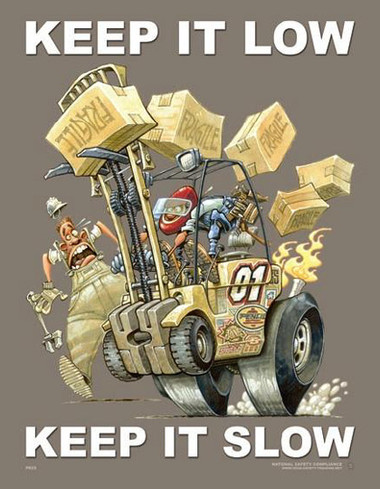 Forklift Driving Safety Posters in ENGLISH  pic 1