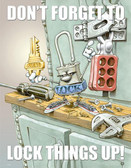 Lock Things Up Safety Posters in ENGLISH  pic 1