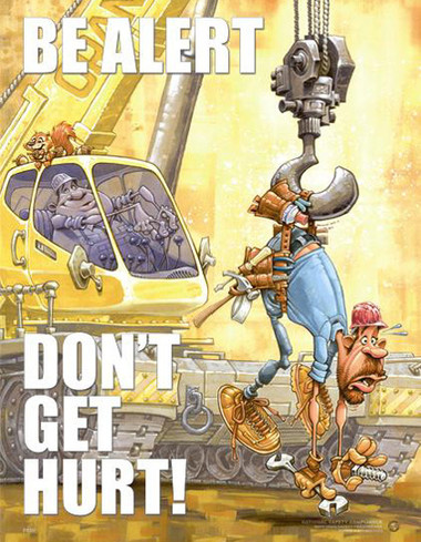 Be Alert Safety Posters in ENGLISH  pic 1