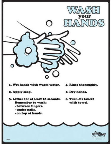 Hand Washing Posters in ENGLISH  pic 1