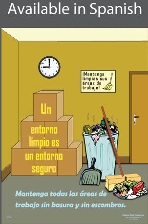 Clean Environment Safety Poster in SPANISH  pic 1