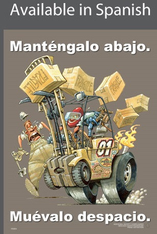Forklift Driving Safety Poster in SPANISH  pic 1