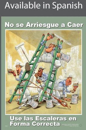 Ladder Safety Poster in SPANISH  pic 1