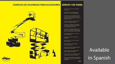 Aerial and Scissor Lift Safety Poster in SPANISH  pic 1