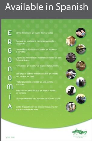 Ergonomics Informational Poster in SPANISH  pic 1