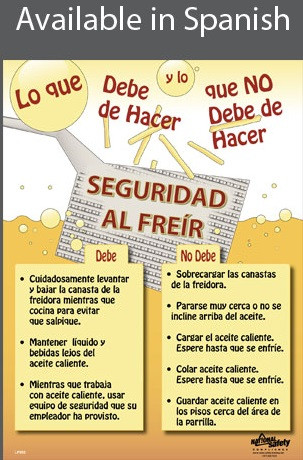 Fryer Safety Poster in SPANISH  pic 1