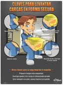 Medical Back Safety Poster in SPANISH  pic 1