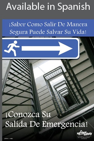 Emergency Escape Safety Poster in SPANISH  pic 1
