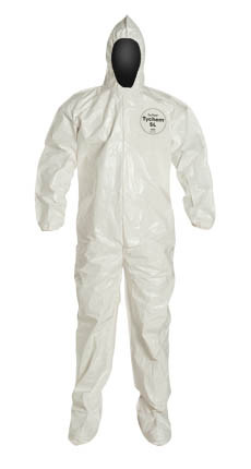 Tyvek Saranex SL Coverall w/ Hood, Boots, Elastic Wrists   pic 4