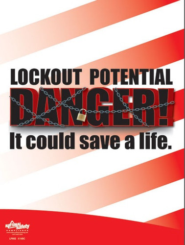 Lockout, Potential Danger Posters in ENGLISH  pic 1
