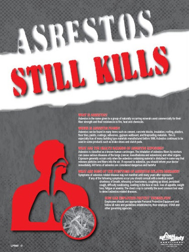 Asbestos Kills Safety Posters in ENGLISH  pic 1