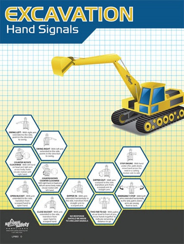 Excavation Hand Signals Posters in ENGLISH  pic 1