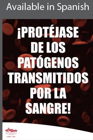 Bloodborne Pathogens Safety Poster in SPANISH  pic 1