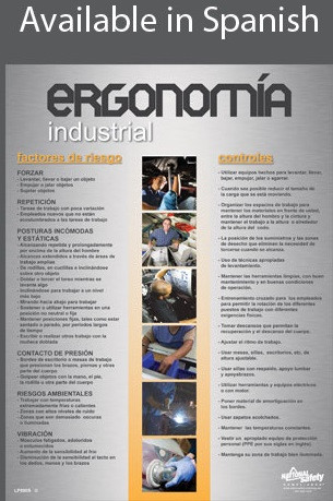 Industrial Ergonomics Safety Poster in SPANISH  pic 1