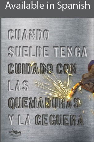 Burns and Blindness Safety Poster in SPANISH  pic 1