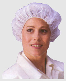 Polypropylene Bouffant Cap 28 Inch White Caps  pic 1