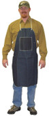 "Blue Denim Apron, 1 chest pocket, 28""x 36"" SINGLE  pic 1"