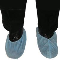 Polypropylene Blue Plain Shoe Covers   pic 2
