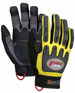 MCR Force Flex Gloves in Yellow Color Pic 1