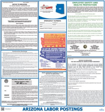 Arizona State Labor Law Poster