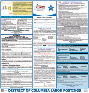 District of Columbia State Labor Law Poster
