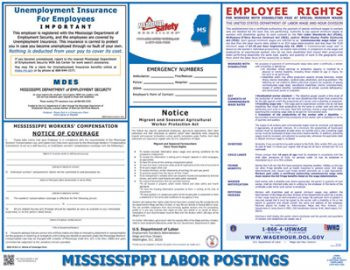 Mississippi State Labor Law Poster
