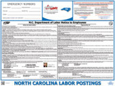 North Carolina State Labor Law Poster