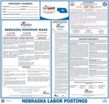Nebraska State Labor Law Poster