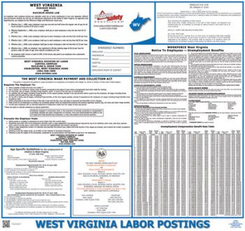 West Virginia State Labor Law Poster