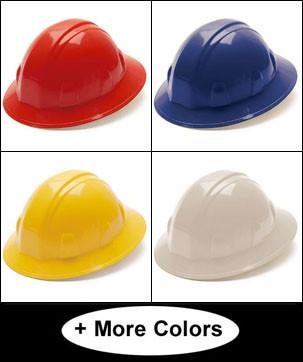 Pyramex 4 Point Full Brim Style Hard Hats