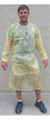 Polypropylene YELLOW Isolation Gown w/ Elastic Wrists  pic 1