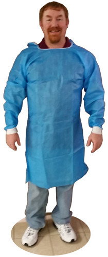 Sunsoft BLUE Isolation Gown w/ Elastic Wrists, Ties   pic 1