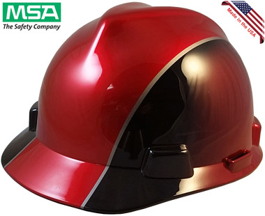 MSA Rally Cap V-Gard Hard Hats with Ratchet Suspension - Oblique View