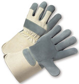 Heavy Duty Leather Glove w/ Gauntlet Cuffs Pic 1