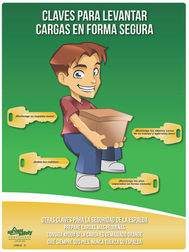 Keys to Safe Lifting Poster in SPANISH  pic 1