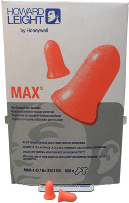 Howard Leight Max 30 Ear Plugs Uncorded (500 Count) # 250221 pic 2