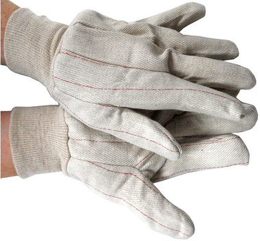 Cotton Double Palm Gloves with Knit Wrist Pic 1