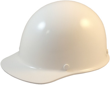 Skullgard Cap Style With Ratchet Suspension White  Oblique